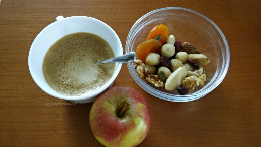 frutos secos fruta desecada manzana café bebida de avena