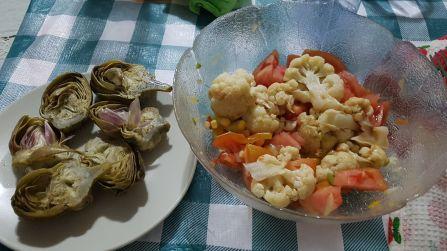 alcachofas coliflor tomate + 2 huevos cocidos lorena nunova nutricion