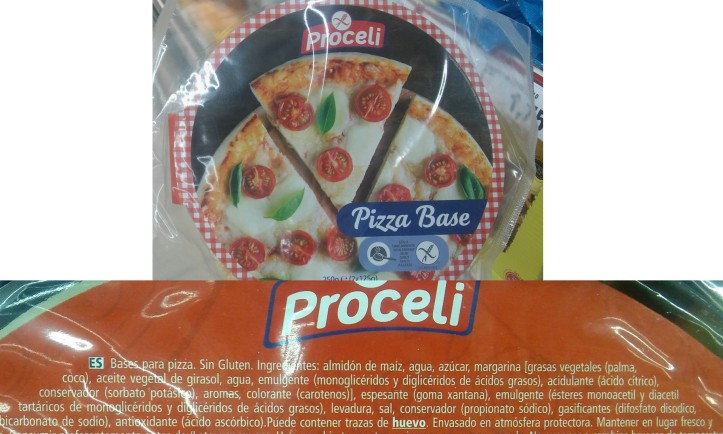 base de pizza sin gluten