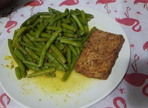 judias verdes i tofu de sesamo lorena nunova nutricion