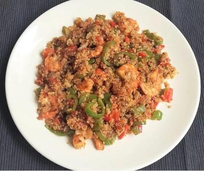 quinoa con verdura y langostinos sergio gonzalez